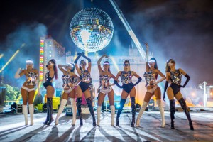 Mirror Ball with Dancers